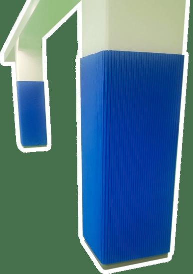 Protezioni in gomma per colonne e pilastri