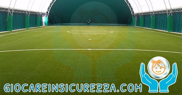 Panoramica del campo polivalente al coperto/indoor