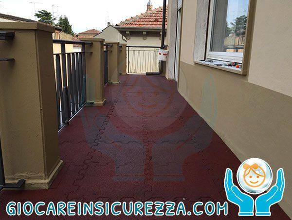 Pavimento gomma da esterno per terrazza di casa