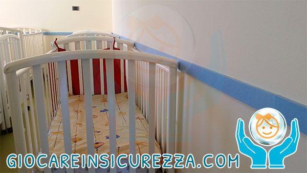 Strisce di protezione murale colore celeste